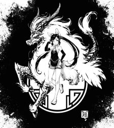 The Fox and the Kirin by RobotCatArt