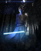Rey The Force Awakens by LitgraphiX