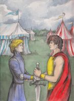 Captive prince: Laurent and Damen by AnotherStranger-Me