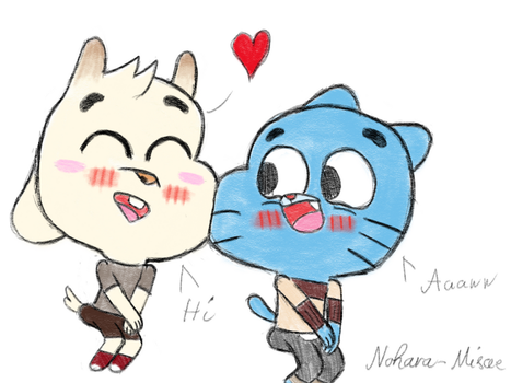 Chi-Chi like Gumball sketch by Nohara-Misae