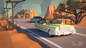 Route 66 [LowPoly] by Mezaka