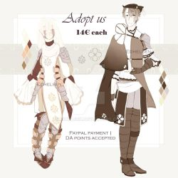 Knight and Hunter adopt | OPEN 1/2 by EdhelSen