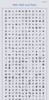 500+ web icons pack by psdblast