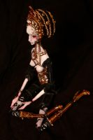 La Reine Art doll by cliodnafae27