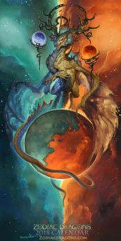2018 The Balanced Air Zodiac Dragon Libra by The-SixthLeafClover