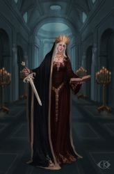 Lady of Sorrow (Commission) by IcedWingsArt