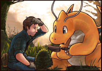 Gardening with a Dragonite by OhDarnnitJerry