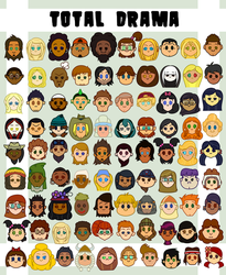 Total Drama Character Icons by RadioFools