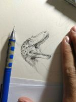 WIP my pencil drawing by Guindagear