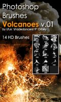 Shades Volcanoes v.01 HD Photoshop Brushes by shadedancer619