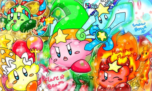 Kirby's Super Ablilies by DedenneLolitaArts98