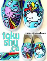 Squid and Whale Kids Shoes by artsyfartsyness