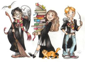 Harry Potter and his friends) by Anastasia1995art