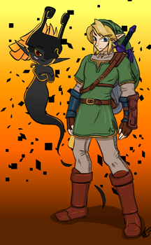 Link and Midna Colored by Creamy423