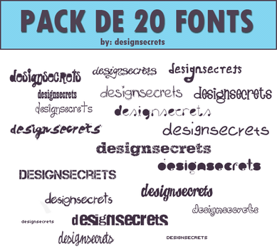 20 fonts by designsecrets