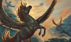 #Equinemarch 5: Pegasus by Dalgeor