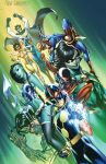 New Warriors #1 cover variant by J-Scott-Campbell