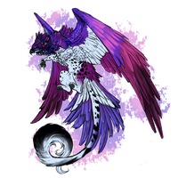 Violet Backed Starling Gryphon - OPEN by Hlaorith