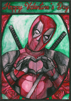 Deadpool-Valentine's Day card by Yami19