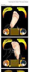Feather Vs Foot by Alma1129
