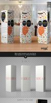 Paper Tri-fold Table Tent Mock-up Template Vol.4 by Itembridge