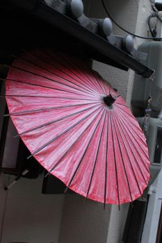 pink umbrella by yellow-sneaker-cult