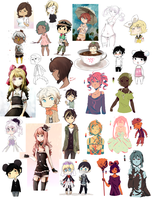So many tiny doodles by pianorei