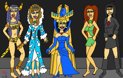 Queen Sophia and the Sorceresses by MarkFanboy