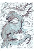 Nessie, the Loch Ness Monster Study by Kway100
