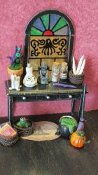 Miniature Witch Side Table by diablosbelle
