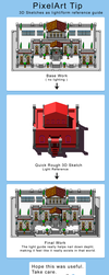 Pixel Art tutorial  - 3D Sketch for light ref by PhilllChabbb