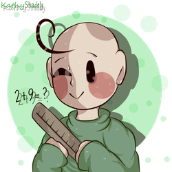 Cute baldi drawing (Baldi's basics) by KathyShadely