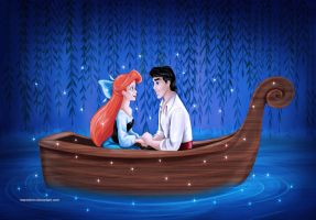 The Little Mermaid and Eric by Mareishon
