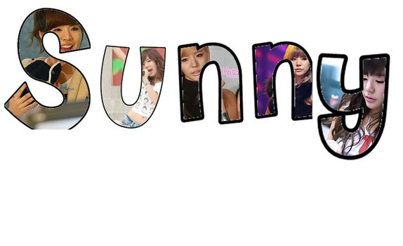 SNSD PNG Text:Sunny by ompink