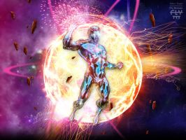 Captain Atom by henflay