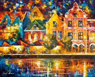 Amsterdam Of My Dreams by Leonid Afremov by Leonidafremov