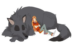Lo9. Fenrir and Tyr by midwaymilly