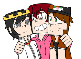 Minecraft Story Mode: The Human Pets (COLORED) by PrettyXTheXArtist