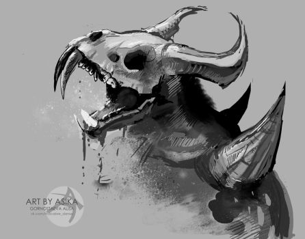 Art for Dota2. Nevermore. by AsikaArt