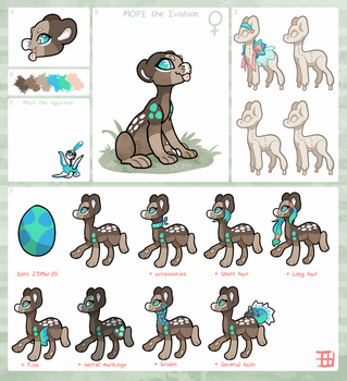Mope - Evoloon information sheet by griffsnuff