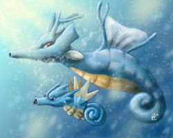 Kingdra and seadra