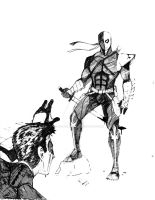 Deathstroke and Robin by TheHypotheticalNerd
