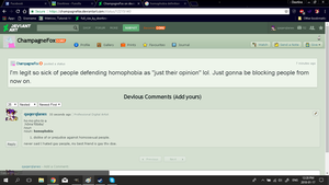 Homophobia by Deertine