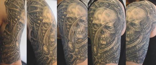 freehand skull thing