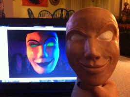 Hexadecimal Cosplay - Mask Sculpt by ArtbyZaheroux