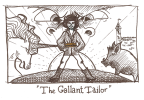 Inktober day 16 - The Gallant Tailor by Kaizoku-hime