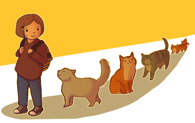 A Trail of Cats by springonion