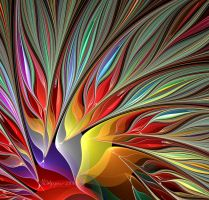 Fractal Bird of Paradise 2 by wolfepaw