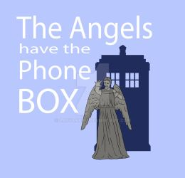 The Angels have the Phonebox by LadyAnaire