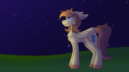Golden sketch on the night - 2018 redraw by TiraTheFox